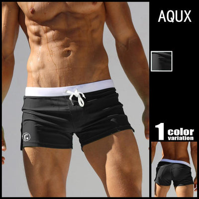 Outlet Appeal Black / XXL Men's Square Leg Swimsuit Men Short Swimming Trunks Pants Beachwear with a Pocket