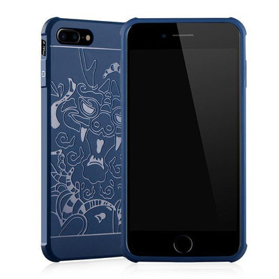 Outlet Appeal Blue Case Pattern / For iPhone 7 ARTISOME Dragon Pattern Case For iPhone 7 Soft Silicone
