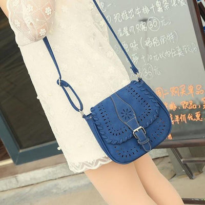 Outlet Appeal Blue Handbags Fashion Women Leather Tote Handbag Satchel Hollow Out Bag Women Shoulder Bgs Crossbody