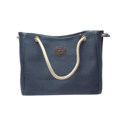 Outlet Appeal Blue Japan Canvas Personality Contracted Bag Single Or Double Shoulder