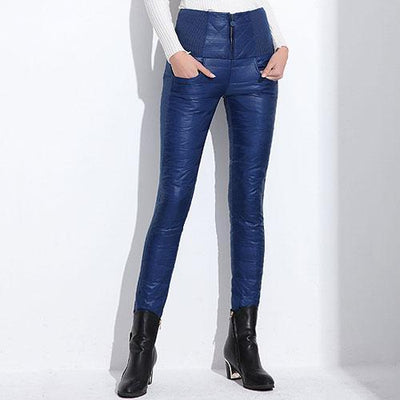 Outlet Appeal Blue / L Pants Plus Velvet Thickening Slim Thermal Female Warm Trousers Legging High Waist Down Pants