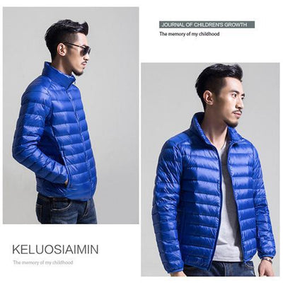 Outlet Appeal Blue / S / China Mens Autumn Winter Duck Down Jacket