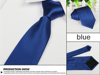 Outlet Appeal blue Solid 8cm slim ties men necktie Fashion Man Accessories For Party Business Formal lot