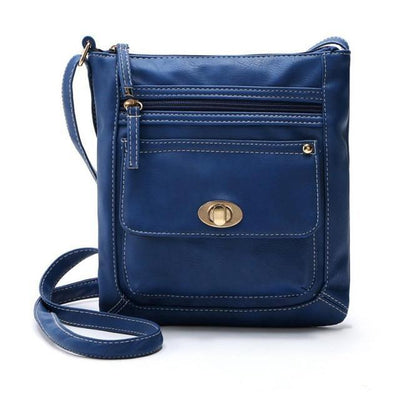 Outlet Appeal Blue Women Bag Leather Satchel Cross Body Shoulder Handbags Women Messenger Bag