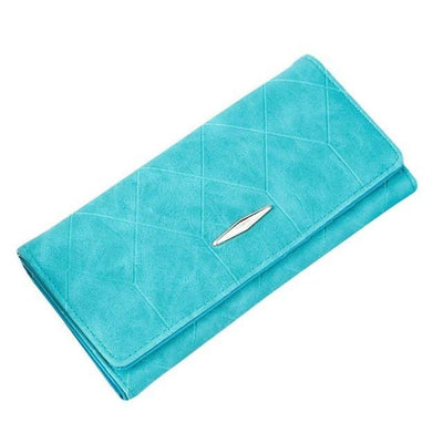 Outlet Appeal Blue Women Wallets Solid Hasp Coin Purse Women Long Wallet Card Holders Clutch Handbag