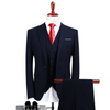 Outlet Appeal Blue / XL (Jacket+Vest+Pants) Men Suits Fashion Navy Blue Men's Slim Fit Men Formal Suits