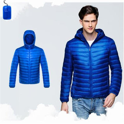 Outlet Appeal Blue / XXL / China Men Duck Down Jacket Parka Winter Hooded Down Coat
