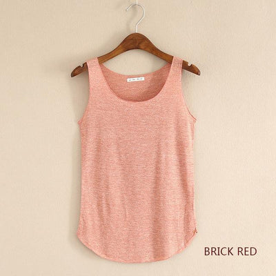 Outlet Appeal Brick red / One Size Fitness Tank Top T Shirt Plus Size Loose Model Women T-shirt Cotton O-neck Slim Tops