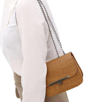 Outlet Appeal Brown Ladies Shoulder Messenger Bag Fashion Women Leather Chain Handbag Cross Body Bag