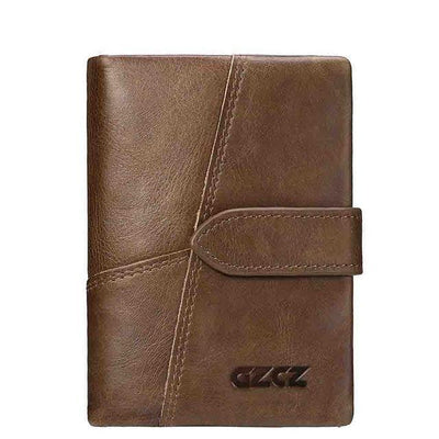 Outlet Appeal Brown-M GZCZ Genuine Leather Women Wallet Lady Long Wallet Coin Purse Purse Clutch Handy