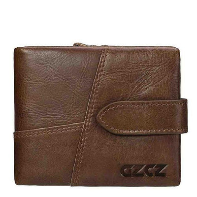 Outlet Appeal Brown-S GZCZ Genuine Leather Women Wallet Lady Long Wallet Coin Purse Purse Clutch Handy