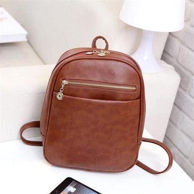 Outlet Appeal Brown Women Bag Fashion leather Backpacks Mochila Feminina Bag Mochila Escolar Backpacks Rucksack