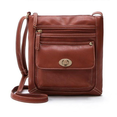 Outlet Appeal Brown Women Bag Leather Satchel Cross Body Shoulder Handbags Women Messenger Bag