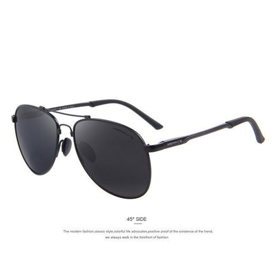 Outlet Appeal C01 Black MERRY'S Men Classic Brand Aviation Sunglasses Polarized Aluminum TR90 Titanium Bridge S8716