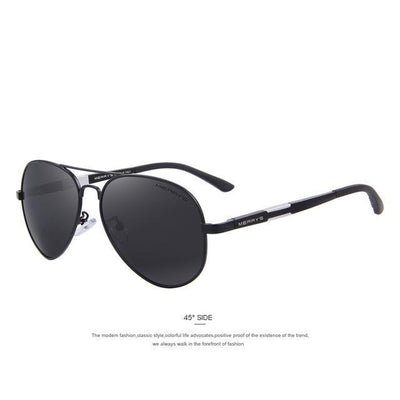 Outlet Appeal C01 Black MERRY'S Men HD Polarized Sunglasses Aluminum Magnesium Men's Classic Brand S'8285