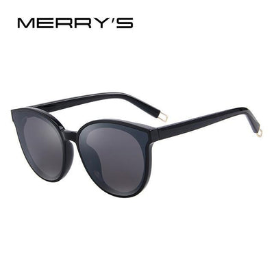 Outlet Appeal C01 Black MERRY'S Women Classic Brand Designer Cat Eye Sunglasses S'8094