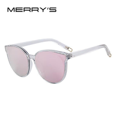 Outlet Appeal C02 Pink MERRY'S Women Classic Brand Designer Cat Eye Sunglasses S'8094