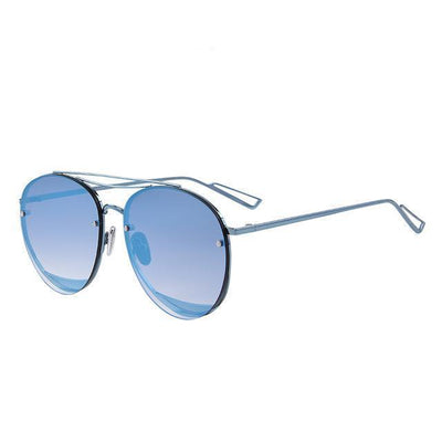 Outlet Appeal C03 Blue MERRY'S Women Classic Designer Rimless Sunglasses Twin Beam Metal Frame Sun Glasses S'8096