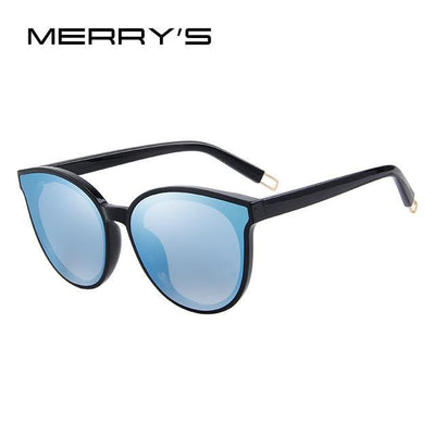 Outlet Appeal C03 Blue Mirror MERRY'S Women Classic Brand Designer Cat Eye Sunglasses S'8094