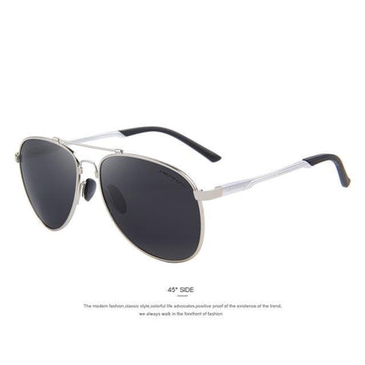 Outlet Appeal C03 Silver MERRY'S Men Classic Brand Aviation Sunglasses Polarized Aluminum TR90 Titanium Bridge S8716
