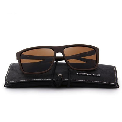 Outlet Appeal C04 Brown MERRY'S DESIGN Men Polarized Sunglasses Fashion Male Eyewear 100% UV Protection S'8225