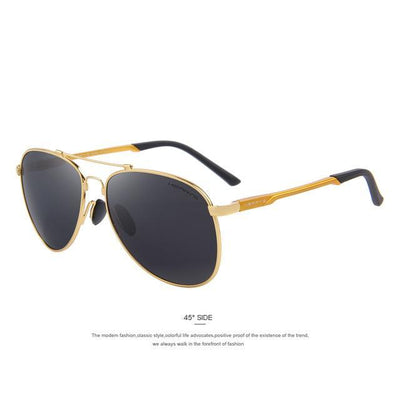 Outlet Appeal C04 Gold MERRY'S Men Classic Brand Aviation Sunglasses Polarized Aluminum TR90 Titanium Bridge S8716