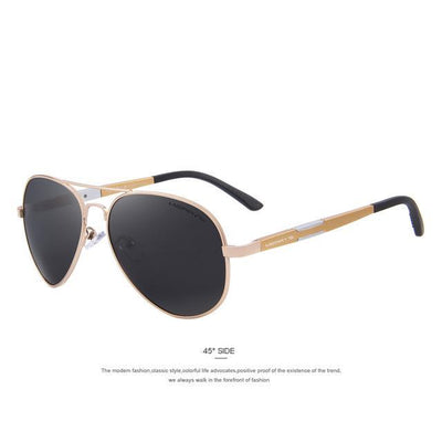 Outlet Appeal C04 Gold MERRY'S Men HD Polarized Sunglasses Aluminum Magnesium Men's Classic Brand S'8285