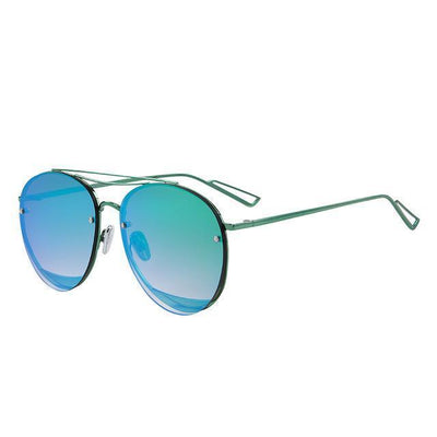 Outlet Appeal C04 Green MERRY'S Women Classic Designer Rimless Sunglasses Twin Beam Metal Frame Sun Glasses S'8096