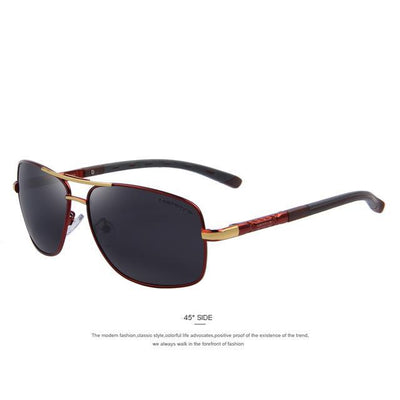 Outlet Appeal C04 Red MERRY'S Men Aluminum Polarized Sunglasses EMI Defending Coating Lens Classic Brand S'8714