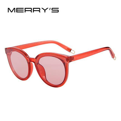 Outlet Appeal C06 Red MERRY'S Women Classic Brand Designer Cat Eye Sunglasses S'8094