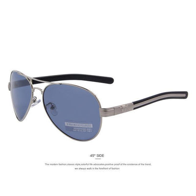 Outlet Appeal C06 Silver Blue MERRY'S Fashion Men Polarized Sunglasses Brand Design Sunglasses Oculos de sol UV400