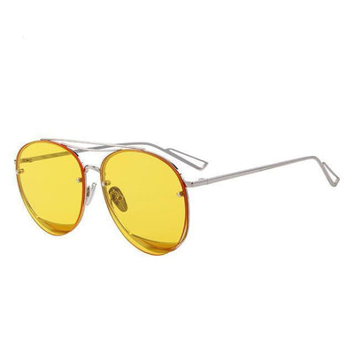 Outlet Appeal C07 Yellow MERRY'S Women Classic Designer Rimless Sunglasses Twin Beam Metal Frame Sun Glasses S'8096