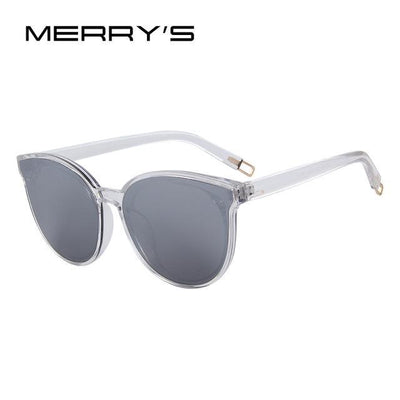 Outlet Appeal C08 Silver MERRY'S Women Classic Brand Designer Cat Eye Sunglasses S'8094