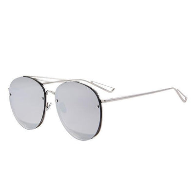Outlet Appeal C08 Silver MERRY'S Women Classic Designer Rimless Sunglasses Twin Beam Metal Frame Sun Glasses S'8096