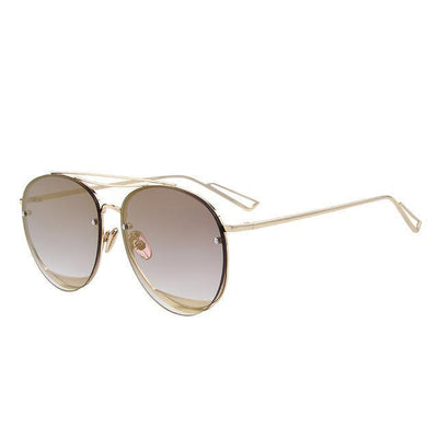 Outlet Appeal C09 Brown MERRY'S Women Classic Designer Rimless Sunglasses Twin Beam Metal Frame Sun Glasses S'8096