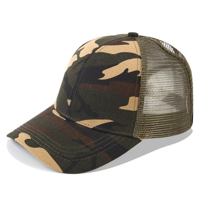 fashion women men ponytail baseball cap