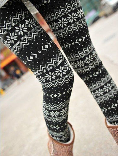 Outlet Appeal Casual Women Lady Skinny Geometric Print Stretchy Jegging Pants Slim Leggings