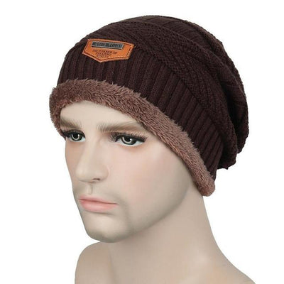 Outlet Appeal Coffee / China Winter Warm Men Beanie Bonnet Baggy Knitted Solid Hats Plain Caps Oversize Ski Skullies Beanies Hats