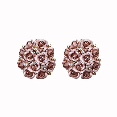 Outlet Appeal Coffee / one-size Fashion Jewelry Bohemia Flower Rhinestone  Earrings For Women Summer Style A