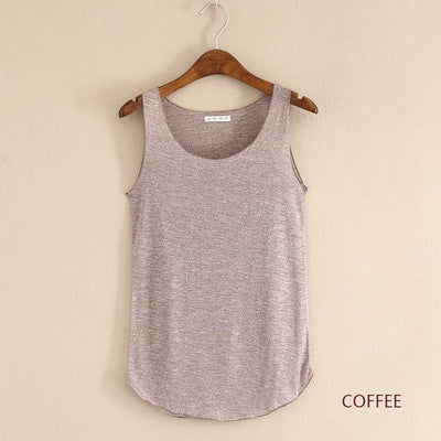 Outlet Appeal coffee / One Size Fitness Tank Top T Shirt Plus Size Loose Model Women T-shirt Cotton O-neck Slim Tops