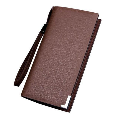 Outlet Appeal Coffee Synthetic Leather mens wallets and purses multifunction long wallet men Bi-Fold flip wallet
