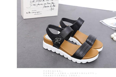 Outlet Appeal Comfortable Faux Aged Leather Flat Gladiator Sandals