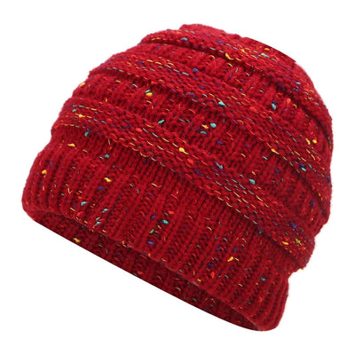 Ponytail Knitted Stylish Beanie Cap