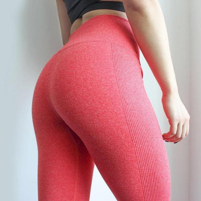 Outlet Appeal Coral red / XS / China Women's High Waist Stretch Fitness Yoga Pants Leggings - 10 Colors