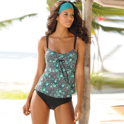 Outlet Appeal CX1818G1 / S Vintage Beach Tankini Swimsuit Set - Small-XXL
