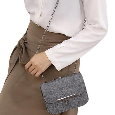 Outlet Appeal Dark Gray Ladies Shoulder Messenger Bag Fashion Women Leather Chain Handbag Cross Body Bag