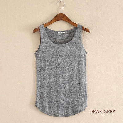 Outlet Appeal Dark gray / One Size Fitness Tank Top T Shirt Plus Size Loose Model Women T-shirt Cotton O-neck Slim Tops