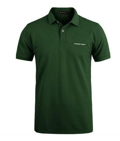 Outlet Appeal Dark Green / 4XL Pionner Camp Men Polo Shirt Men Business & Casual solid male polo shirt Short Sleeve breathable polo