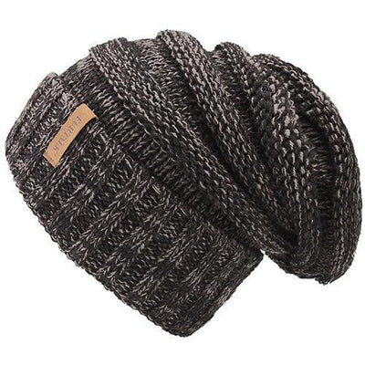 Outlet Appeal dark grey Women's Winter Knitted Slouchy Beanie Hat