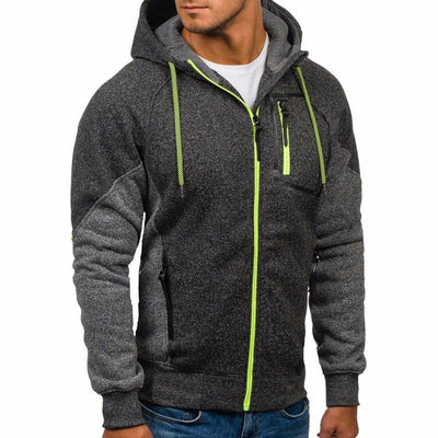 Outlet Appeal Deep Gray / L New Men's Outwear Sweater Winter Hoodie Warm Coat Jacket Slim Hooded Sweatshirt